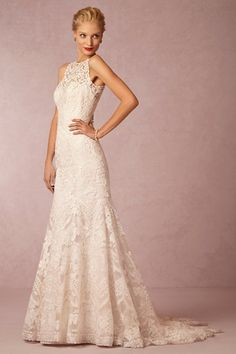 BHLDN Adalynn Gown; I like the neck line and back.