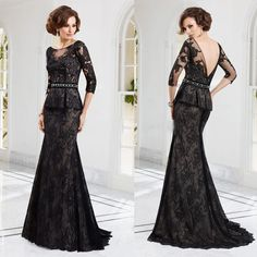 lace cardigan knitting pattern Picture - More Detailed Picture about Elegant  Black Mother of the Bride Lace Dresses 2014 Long Sleeve Wedding Guest  Dresses ... 876795807a68