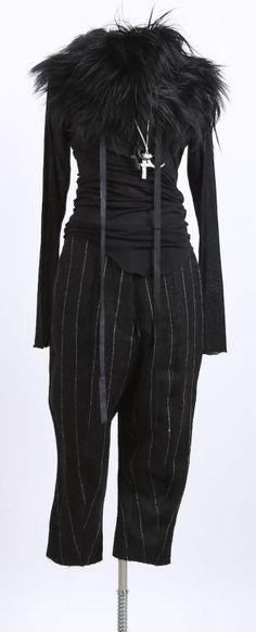 rundholz - Hose Leinen breite Streifen black pinstripe - Winter 2016 - stilecht - mode für frauen mit format...