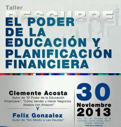 Taller El Poder de la Educación y Planificación Financiera