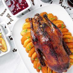 Kaczka pieczona z jabłkami Polish Recipes, Poultry, Paleo, Keto, Steak, Bacon, Pork, Food And Drink, Turkey