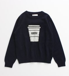 I am I/COFFEE柄ニット