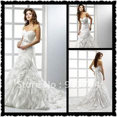 Sweetheart Organza Mermaid Wedding Dress MS 143 Best Price-in Wedding Dresses from Apparel & Accessories on Aliexpress.com