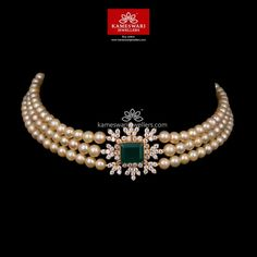 Gold Necklace for Women Online Pearl Necklace Designs, Jewelry Design Earrings, Gold Jewellery, Temple Jewellery, Pearl Jewelry, Antique Jewelry, Choker Necklace Online, Diamond Choker Necklace, Bridal Necklace