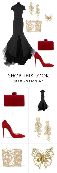 Chic by anjieffat on Polyvore featuring Hensely, Christian Louboutin and Valentino