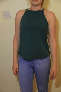 Halter Tops, Green Tops, Two Hands, Second Hand Clothes, New Look, Basic Tank Top, How To Make Money, Clothes For Women, Tank Tops