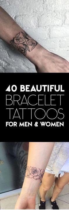 40 Beautiful Bracelet Tattoos for Men & Women | TattooBlend