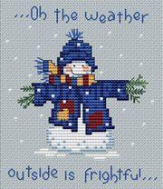 Free Snowman cross-stitch design