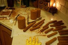 grunging candles tutorial... this is actually a great idea!  I am going to try it!