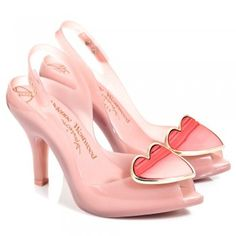 Vivienne Westwood Red Ladydragon Heart Womens Peep Toe Shoes - no one can ever know how much I ♡ these shoes!
