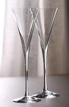 Orrefors Divine Champagne Flutes