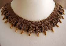Beaded Nefertiti Collar Pattern by Carlene Cooley-Brown at Bead-Patterns.com