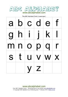 Printable Alphabet Letters Templates  Abc Alphabet Chart