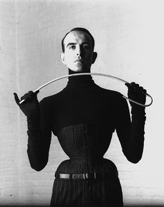 The master of corsets, Mr Pearl.