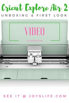 Cricut Explore Air 2 Unboxing and First Look Curious about the Cricut Explore Air 2 - Come see this Unboxing and First Look video! Cricut Explore Air 2 Unboxing and First Look
