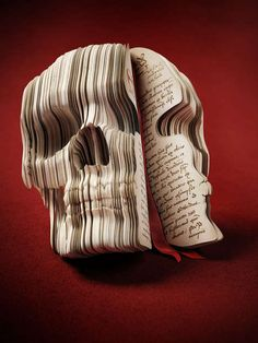 Skull-Carved Books by Raphael Dahan. He is a digital artist based in New York. He had created literal 'facebooks'. It's a funny idea and difficult to make. So I like this 'facebook' a lot.