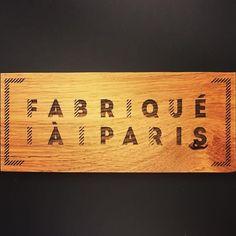 Wood Engraving Fabriqué à Paris Label Oak Wood Engraving, Paris, Gravure, Bamboo Cutting Board, Label, Home Decor, Figurative, Atelier, Woodblock Print