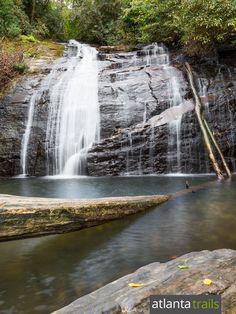 Helton Creek Falls: a kid-friendly double waterfall hike near Helen, Georgia