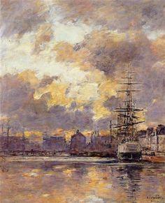 Le Havre. Commerce Basin. - Eugene Boudin, 1894