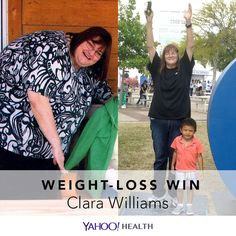 Weight-Loss Win is an original Yahoo Health series that shares the inspiring stories of people who have shed pounds healthfully.  Clara Williams is 51, 5′10″, and 183 pounds.