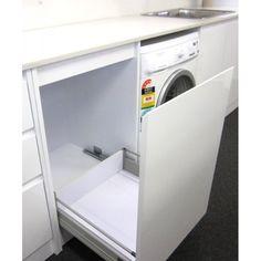 Laundry Basket Cabinet - Home Furniture Design Laundry Hamper Cabinet, Laundry Chute, Laundry Room Cabinets, Laundry Room Storage, Cupboard Storage, Laundry Basket, Ikea Laundry, Laundry Decor, Laundry In Bathroom
