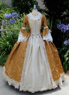 In Stock Rococo Marie Antoinette Gown Brocade by RomanticThreads, $850.00