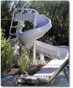1000 ideas about above ground pool slide on pinterest - Above ground swimming pool supplies ...