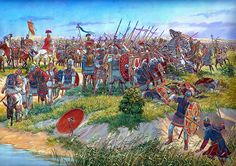 Battle of Callinicum -  19 April 531 AD, between the armies of the Byzantine Empire under Belisarius and the Sassanid Persians under Āzārethes.