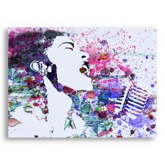 Find it at the Foundary - Billie Holiday Art Print Music Painting, Art Music, Soul Music, Billy Holiday, Music Illustration, Illustrations, Funky Art, African American Art, Renaissance Art