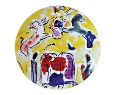 Bernardaud Marc Chagall Coupe Plate, Set of 6