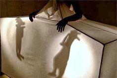 Thread, Fashion and Costume: Mella Jaarsma I Shadow Theatre, Theatre Costumes, Shadow Play, Shadow Puppets, Light Installation, Weird And Wonderful, Textile Art, Wearable Art, Theater
