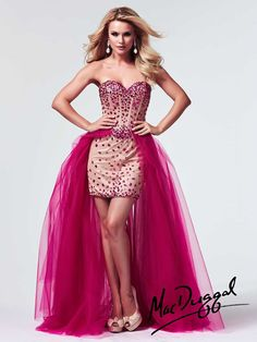 Strapless High Low Ball Gown by Mac Duggal #edressme | PROM ...