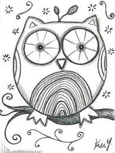 Little Art Studio: Original Owl Sketch