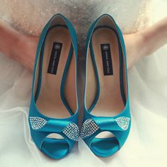 84.15$  Buy here - http://ali2cl.worldwells.pw/go.php?t=2051875525 - Blue Satin Peep Toe Pumps for Mother Single Shoes Party Prom Dress Shoes Bling Bling Bridal Wedding Shoes Bridesmaid Shoes