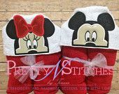 Mr. and Ms. Mouse Applique Embroidery design (5X7 hoop) Inspired by Mickey Mouse and Minnie Mouse