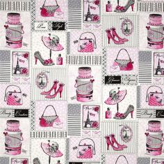 GLAMOUR INC PINK FRENCH FRANCE PARIS BENARTEX QUILT CRAFT FABRIC - $19.90 : Quilt Fabric - The Oz Material Girls, quilt | quilting | patchwork fabrics: