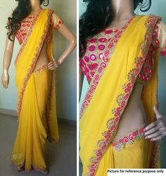 Embroidered Georgette Saree #NX 48