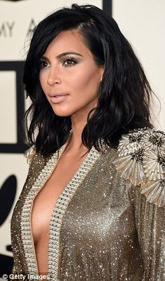 Special occasion: According to Kim's hair stylist, she was keen to make a statement at the Grammys