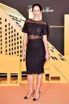 Divino vestido negro corto de noche by CH--me encanta lo transparente combinado con encaje