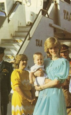 Diana and William...in Australia. Where Diana famously told the Firm that if Wills wasn't going, she wasn't going, breaking with Royal tradition.
