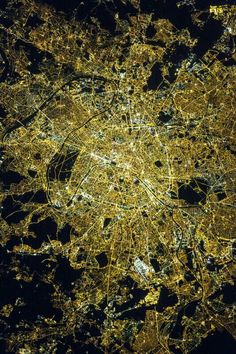"""Outer Space: """"Around local midnight time on April 8 2015 astronauts aboard the International Space Station took this photograph of Paris [France] often referred to as the 'City of Light. Paris At Night, Night City, Image Paris, Nasa Images, Earth Photos, Paris Images, International Space Station, Tumblr, Image Of The Day"""