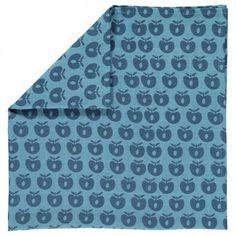 Cloth, sky blue with apples, Smafolk