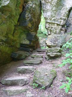 Wyalusing State Park, Wisconsin. Great views, hiking, caves & waterfalls. {recommended by other campers}