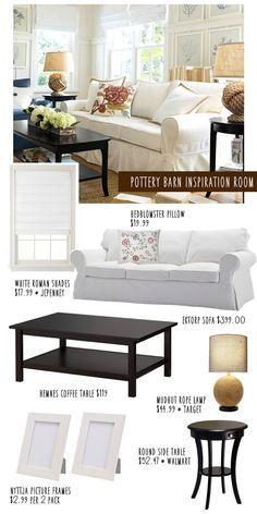 Pottery Barn Look-a-Like Room on a Budget!