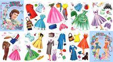 Debbie Reynolds Paper Dolls - 1950s | Source: Paper Goodies