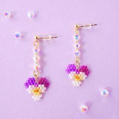 Beaded Earrings Native, Seed Bead Earrings, Diy Earrings, Seed Beads, Beaded Bracelets, Handmade Beaded Jewelry, Beaded Jewelry Patterns, Seed Bead Patterns, Beading Patterns