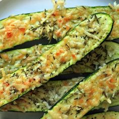 Crusty parmesan-herb zucchini bites. Yes please!