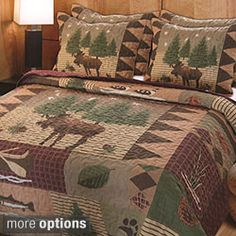 Greenland Home Fashions Moose Lodge 3-piece Quilt Set