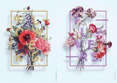 Visual Floral Posters by Aleksander Gusakov