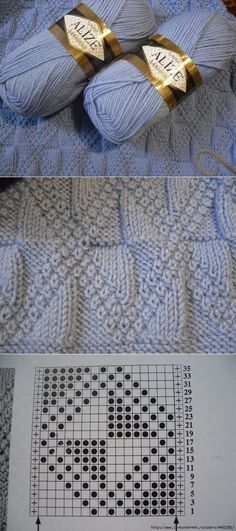 Crochet Patterns Yarn And again . for beloved men . Knitting Charts, Baby Knitting Patterns, Lace Knitting, Stitch Patterns, Crochet Stitches For Blankets, Knit Or Crochet, Knitting Projects, Creations, Crochet Edgings